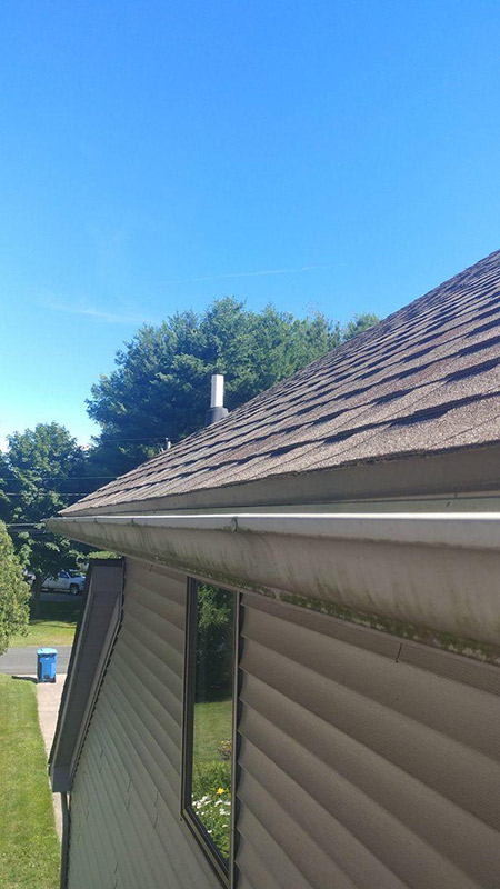 Clog-free Gutters Installation - Before