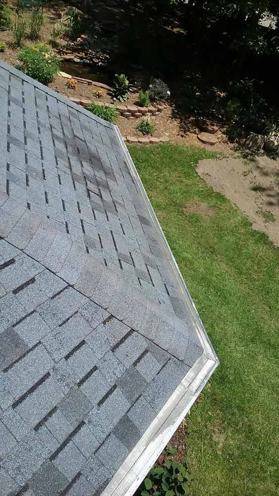 Gutter Cleaning with Removal of Gutter Helmet - After