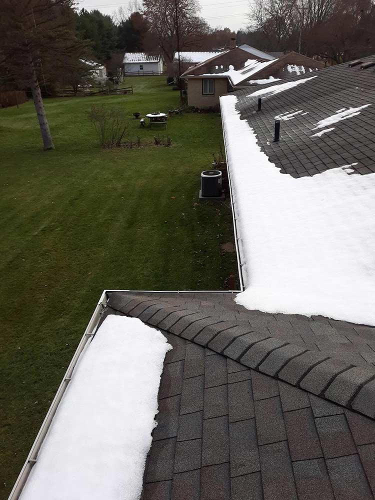 Gutter Covers Installed - Before