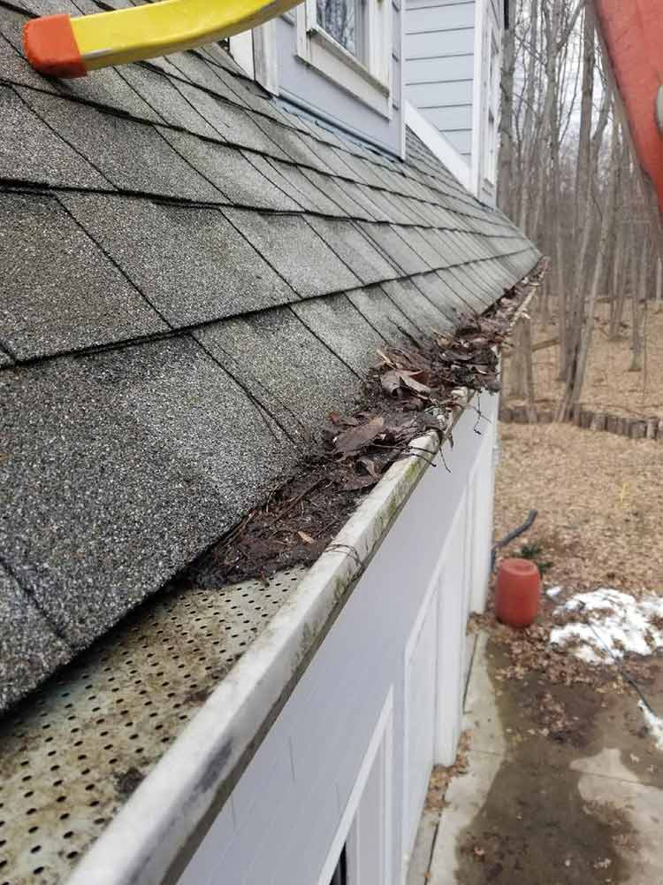 Gutter Guard Protection Replacement - Before