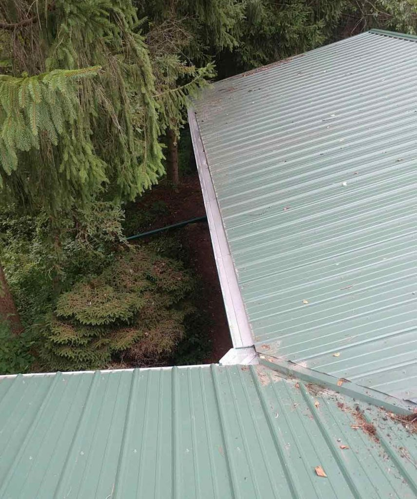 Gutter Guards Installed on Metal Roof - After