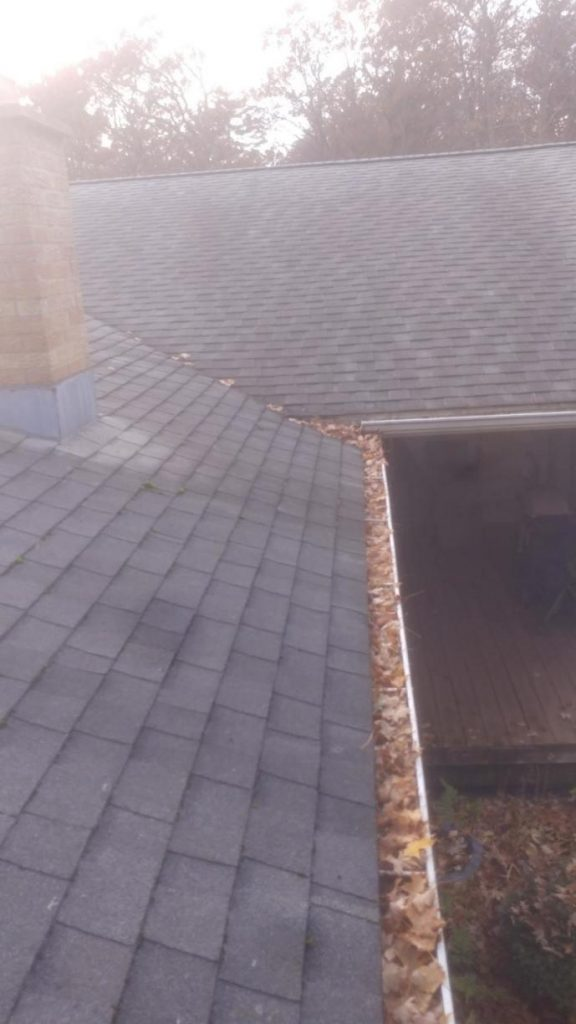 Gutter Protection Installation - Before