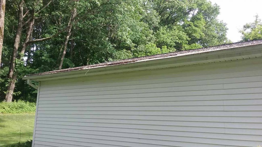 Gutter Protection Installed - Before