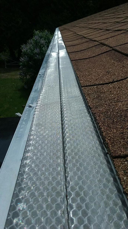 Gutter Protection Installed for Shingle Grit - After