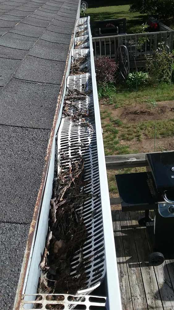 Gutter Protection Replacement - Before