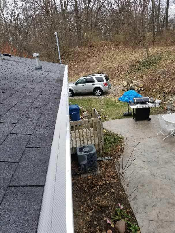 Gutters Leaf Guard Installation - After