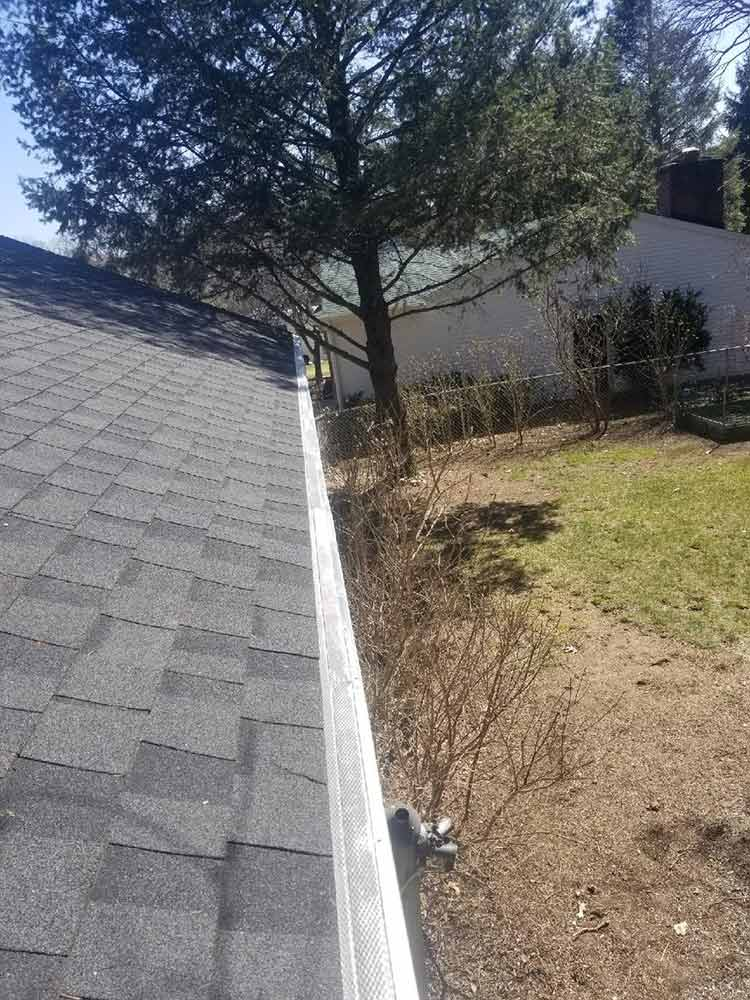Home Gutter Covers Installed - After