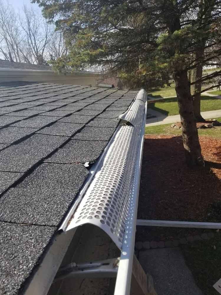 Home Gutter Guard Replacement - Before