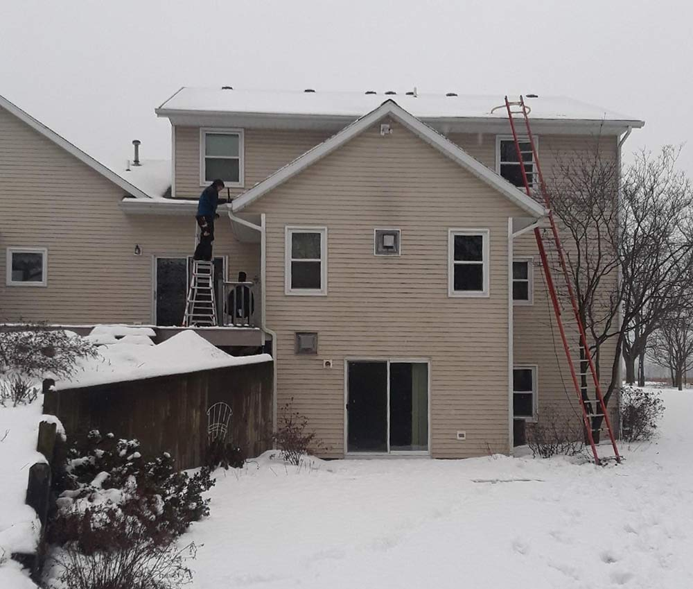 Home Gutter Protection Installation - Before
