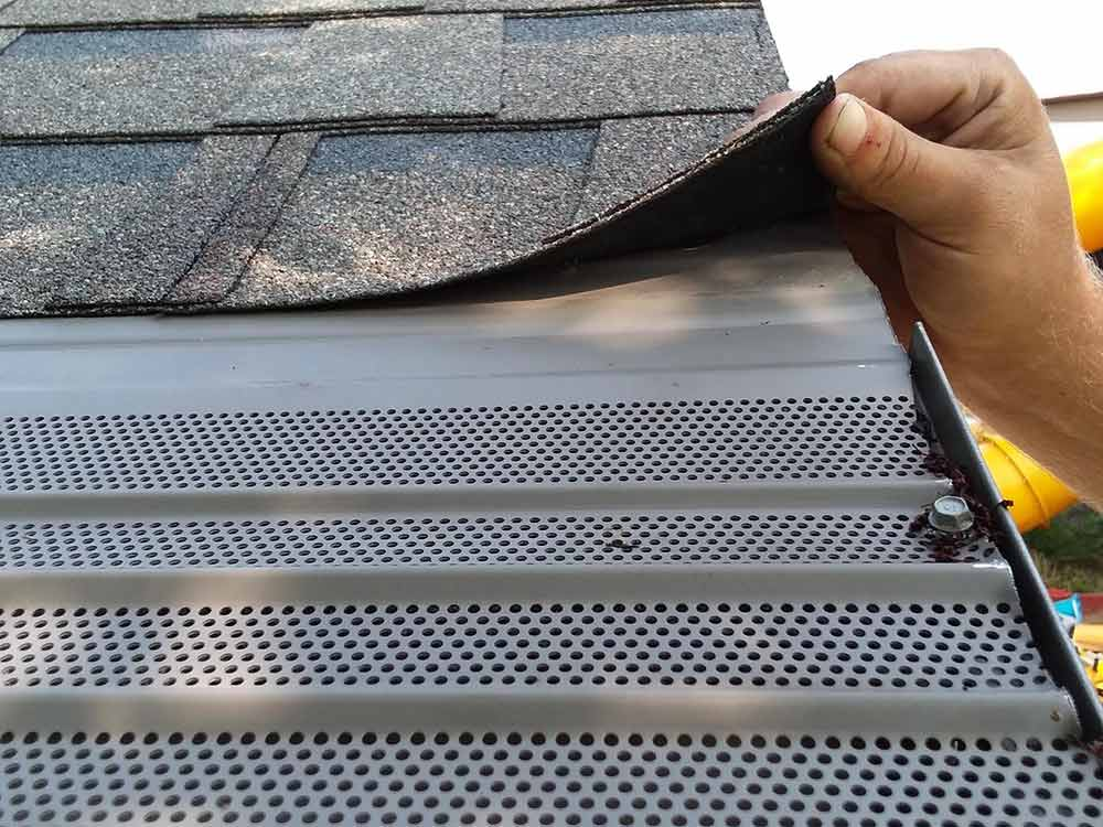 Home Gutter Protection Replacement - Before