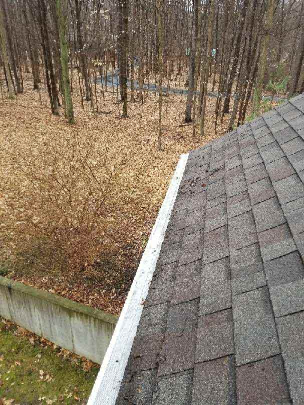 House Gutter Protection Installation - After