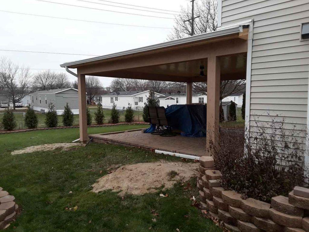 House Seamless Gutter Installation - After
