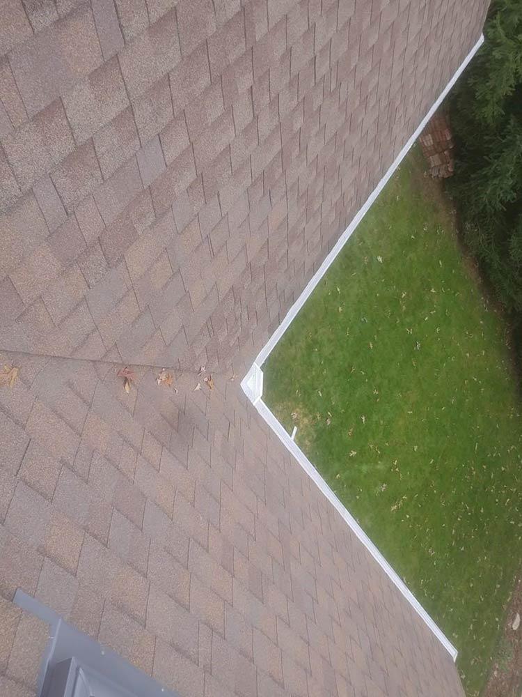Installation Leaf Gutter Guard - After