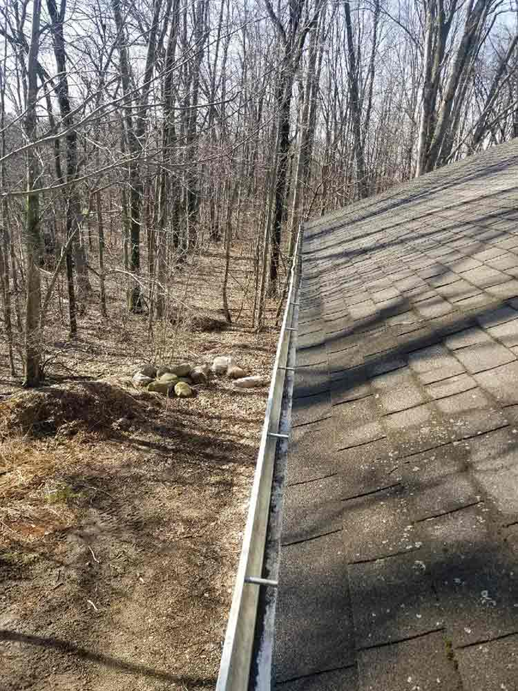 Installing Gutter Protection - Before