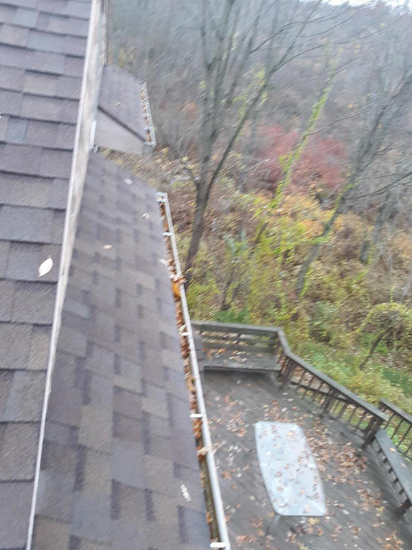 Installing Home Gutter Protection - Before