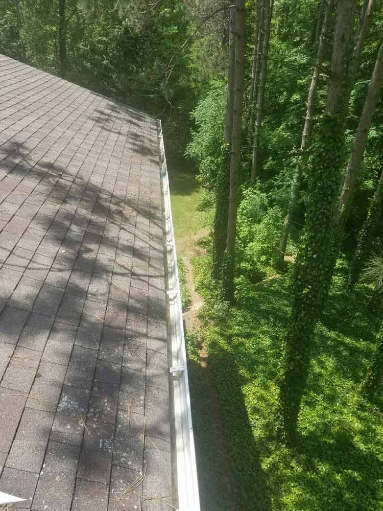Leaf Guard Gutter Protection Installed - Before