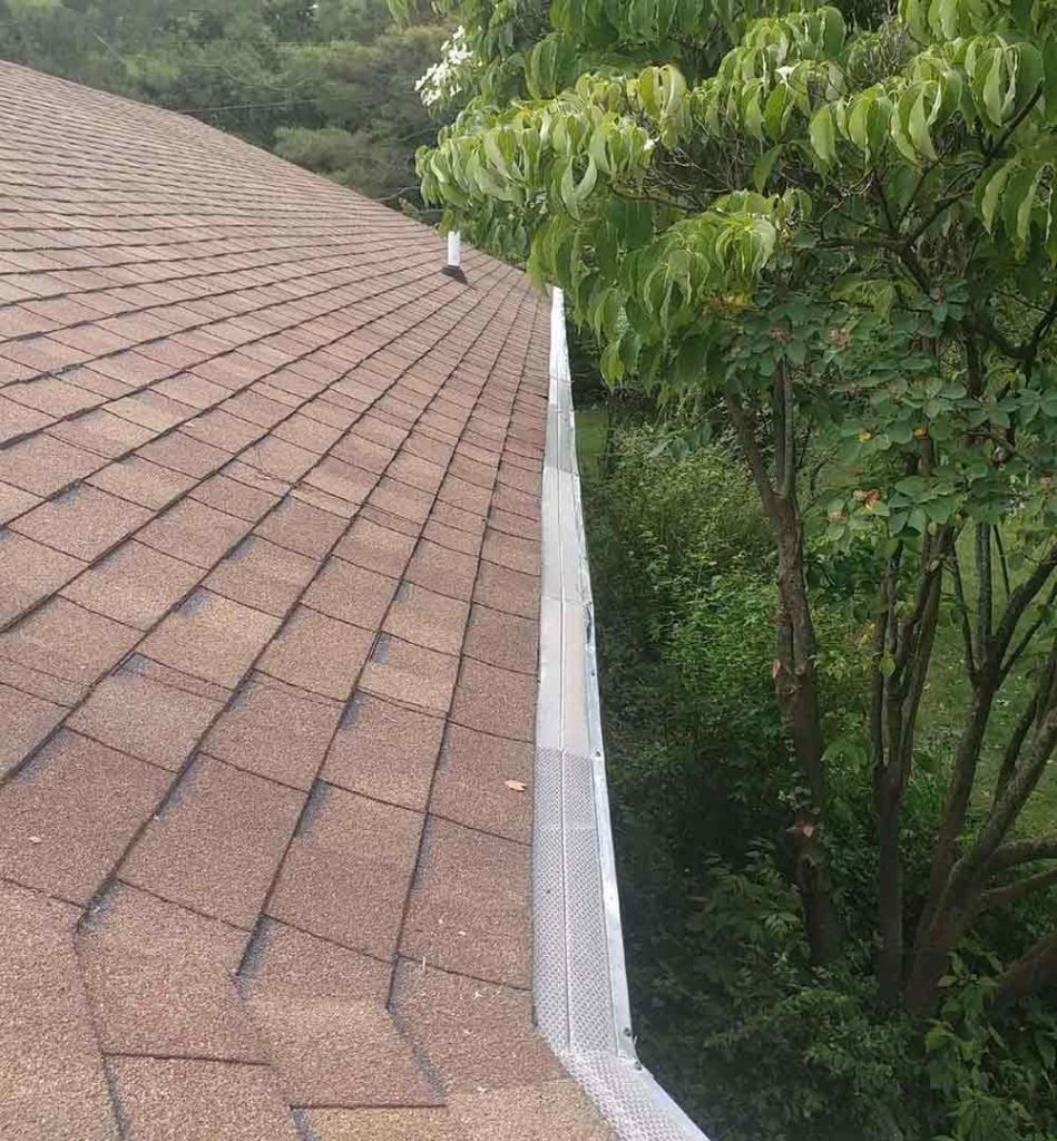 Locust Leaves Clog Gutters Replacement - After