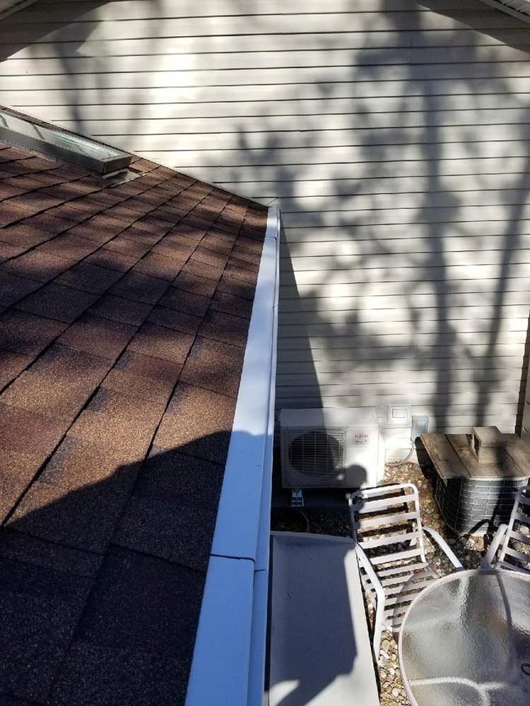 Plastic Gutter Protection Replaced - Before
