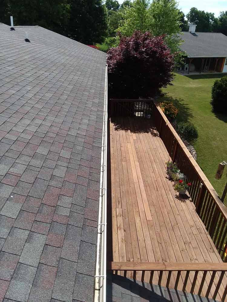 Reflashed Gutter Guard Installation - Before