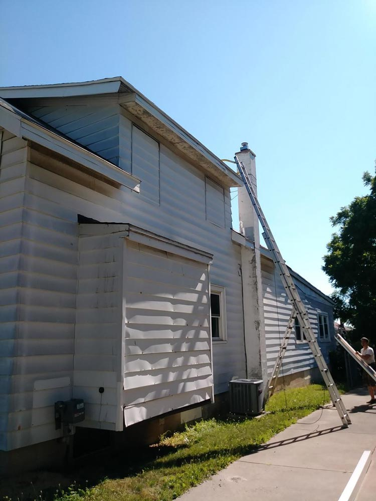 Seamless Gutters Installed - Before